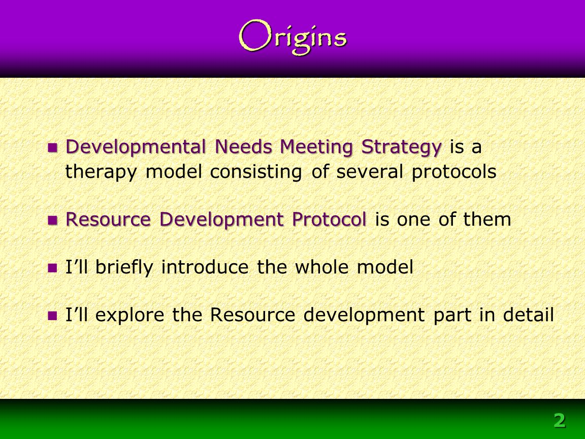 33 Primary Agent for Change Not the interpersonal relationship DNMS Overview