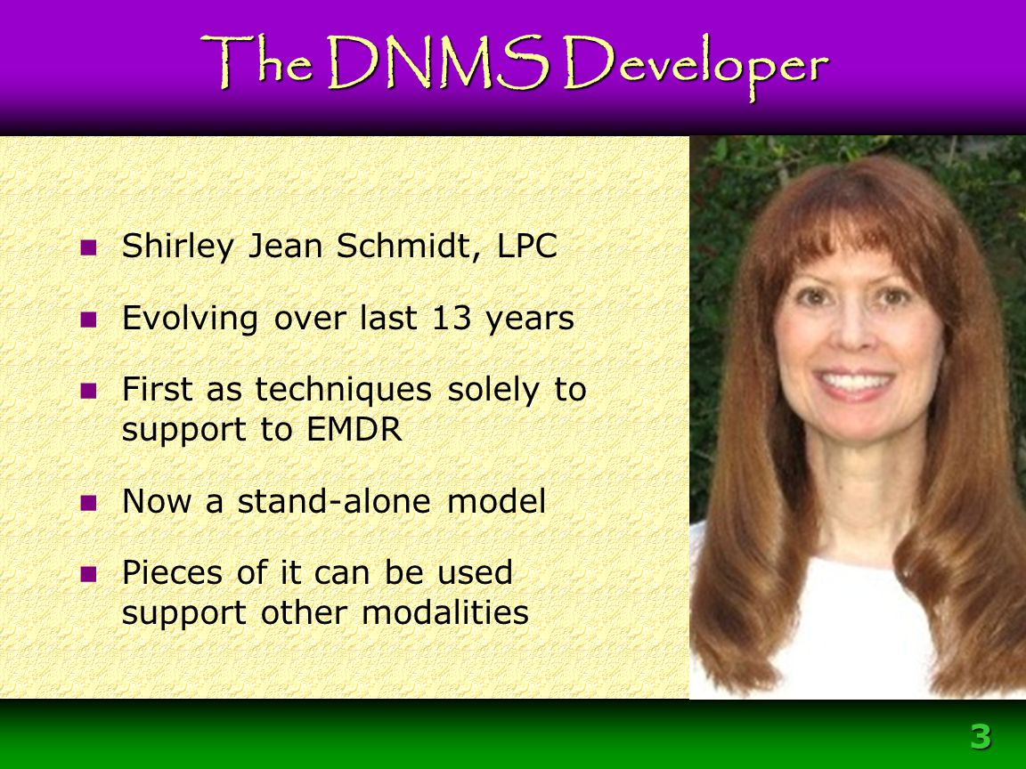 34 Primary Agent for Change But the intrapersonal relationship DNMS Overview