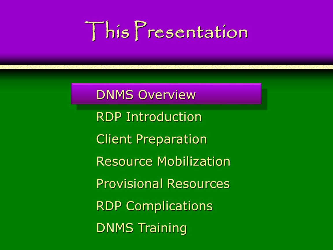 116 Switching the Dominance Protocol Overview RDP Complications