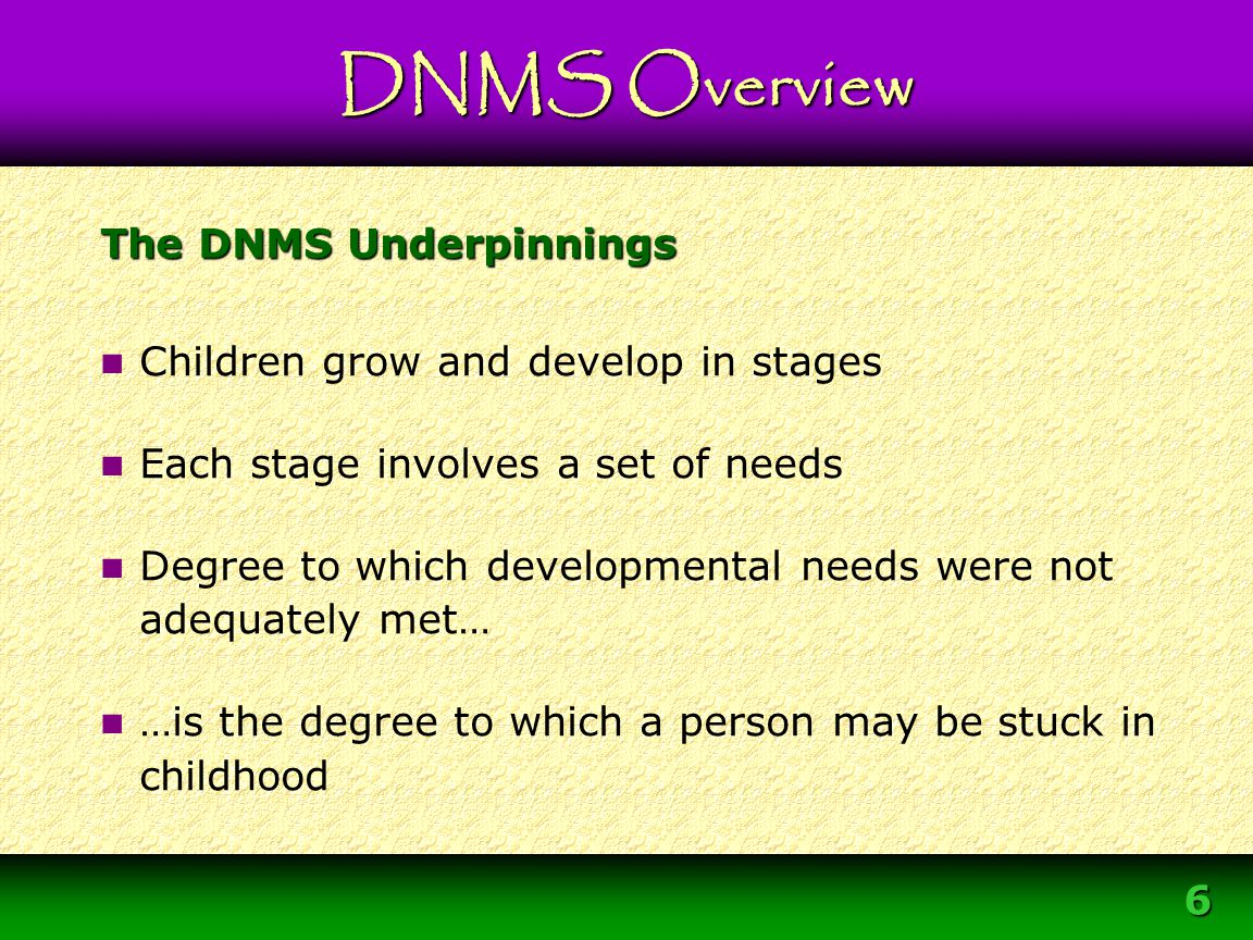 37 Alternating Bilateral Stimulation Used during the DNMS to strengthen connection To each Resource To the Resource team (Healing Circle) between wounded parts and the Resources Also used to facilitate emotional repair DNMS Overview