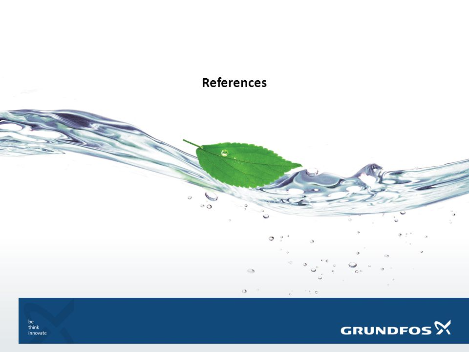 GRUNDFOS BIOBOOSTER Click to edit Master text styles References