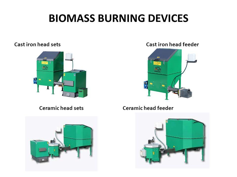 BIOMASS BURNING DEVICES Cast iron head sets Ceramic head sets Cast iron head feeder Ceramic head feeder