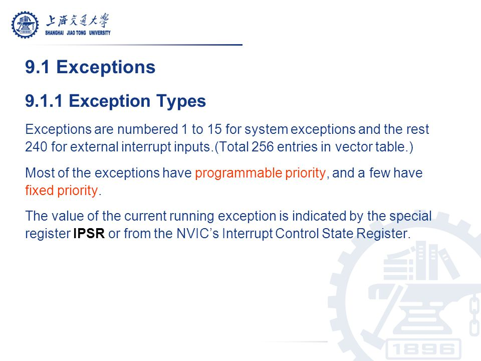 9.2.6 Software Interrupts Software interrupts can be generated by using: 1.