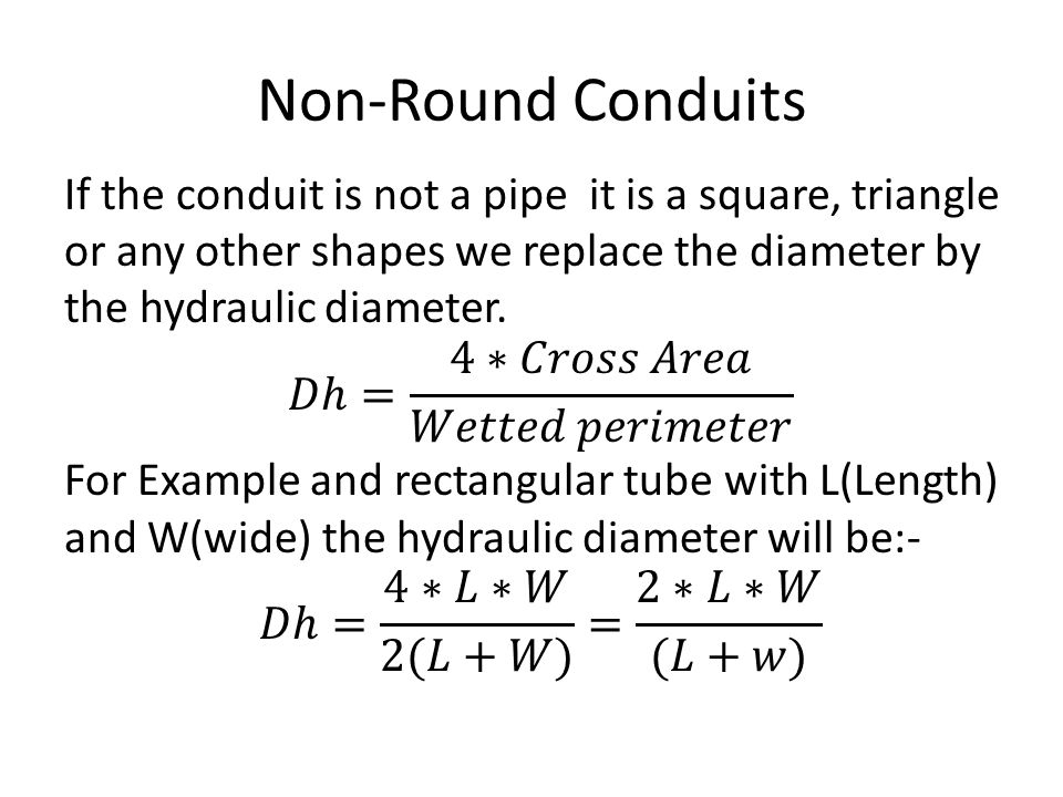 Non-Round Conduits