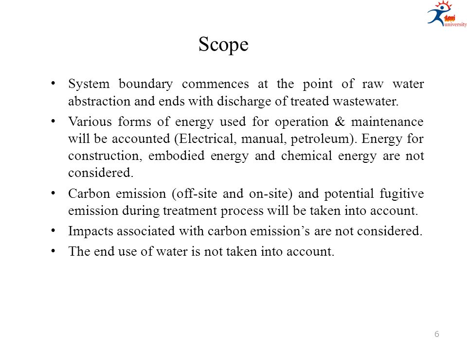 Key indicators, drivers and Implications Activated sludge process dominated the energy consumption with 0.87kWh/m 3 (33% of the total energy consumed in the treatment process) compared to other technologies Increase in energy consumption with large urban spread: Out of the seven zonal areas in Delhi, it was found that Okhla zone consumed the highest amount of energy for sewage pumping and wastewater treatment, 1.86kWh/m 3 (67% of the total energy consumed in treatment and pumping process).