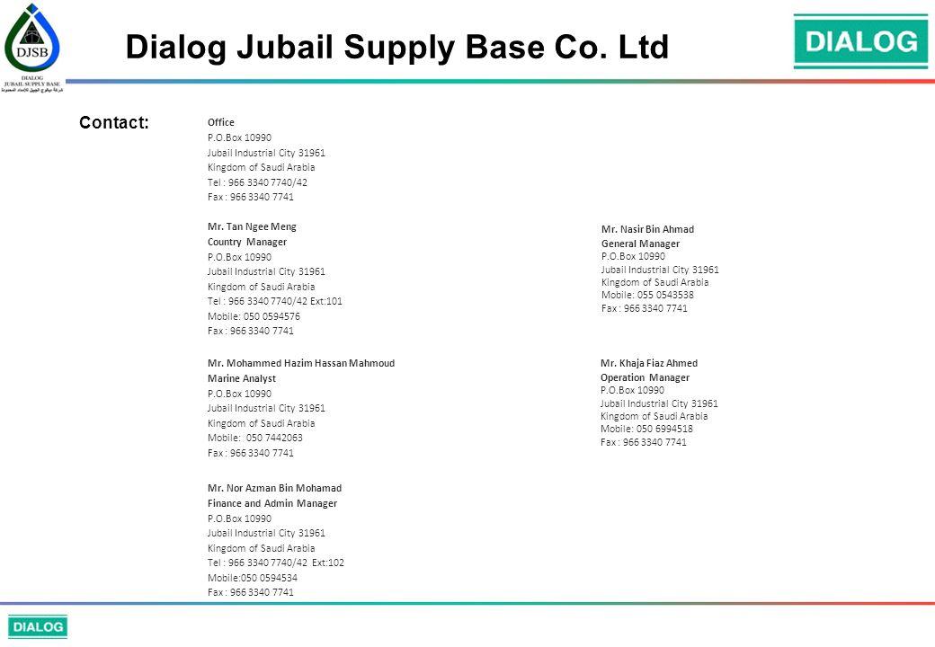 Dialog Jubail Supply Base Co.