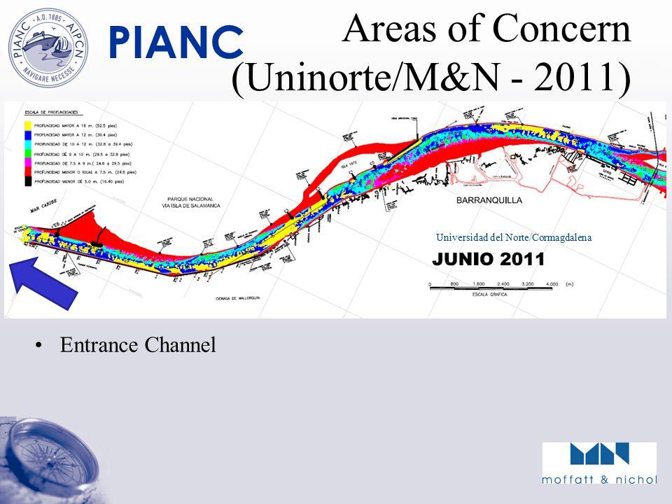 PIANC Areas of Concern (Uninorte/M&N - 2011) Entrance Channel Universidad del Norte/Cormagdalena