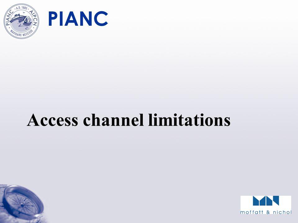 PIANC Access channel limitations
