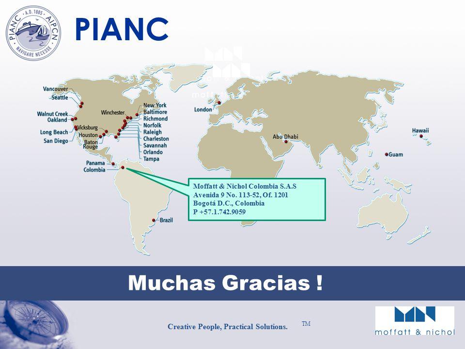PIANC Creative People, Practical Solutions.TM Muchas Gracias .