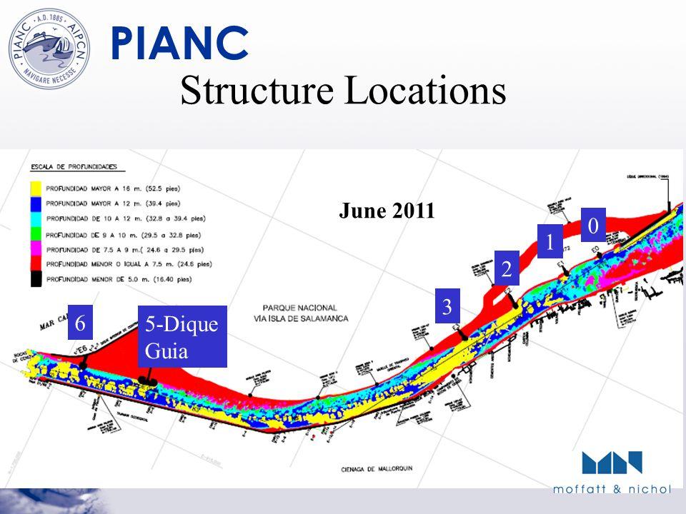 PIANC Structure Locations 1 0 2 3 5-Dique Guia 6 June 2011