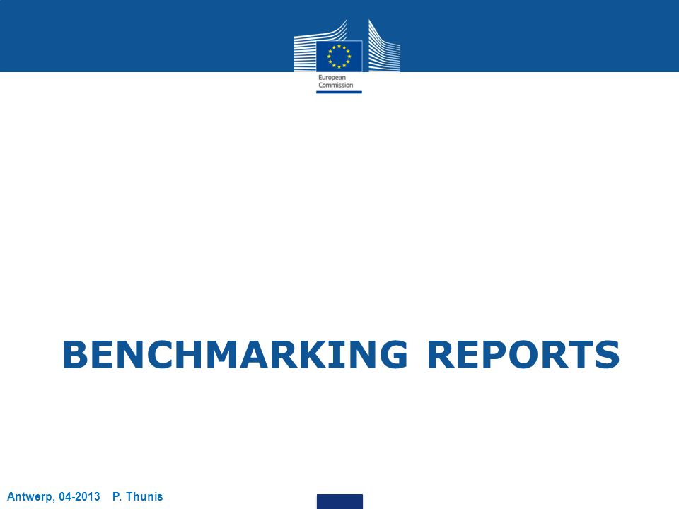 BENCHMARKING REPORTS Antwerp, 04-2013 P. Thunis