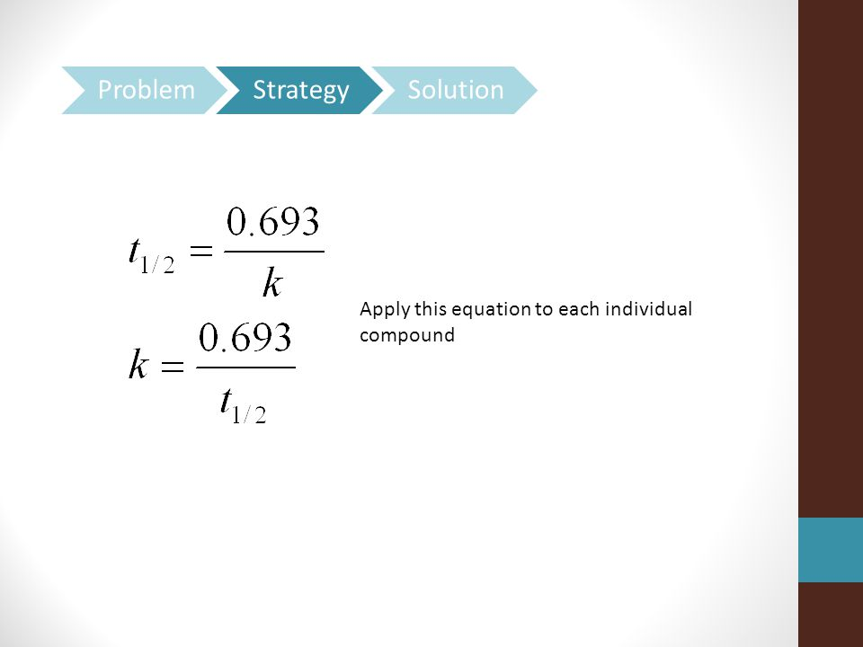 Apply this equation to each individual compound