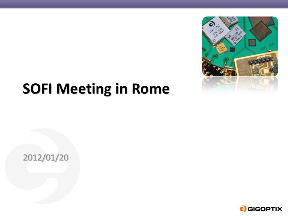 SOFI Meeting in Rome 2012/01/20