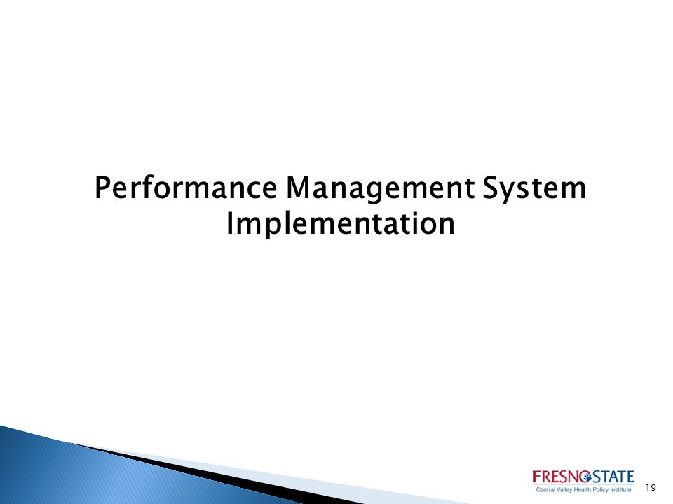 Performance Management System Implementation 19