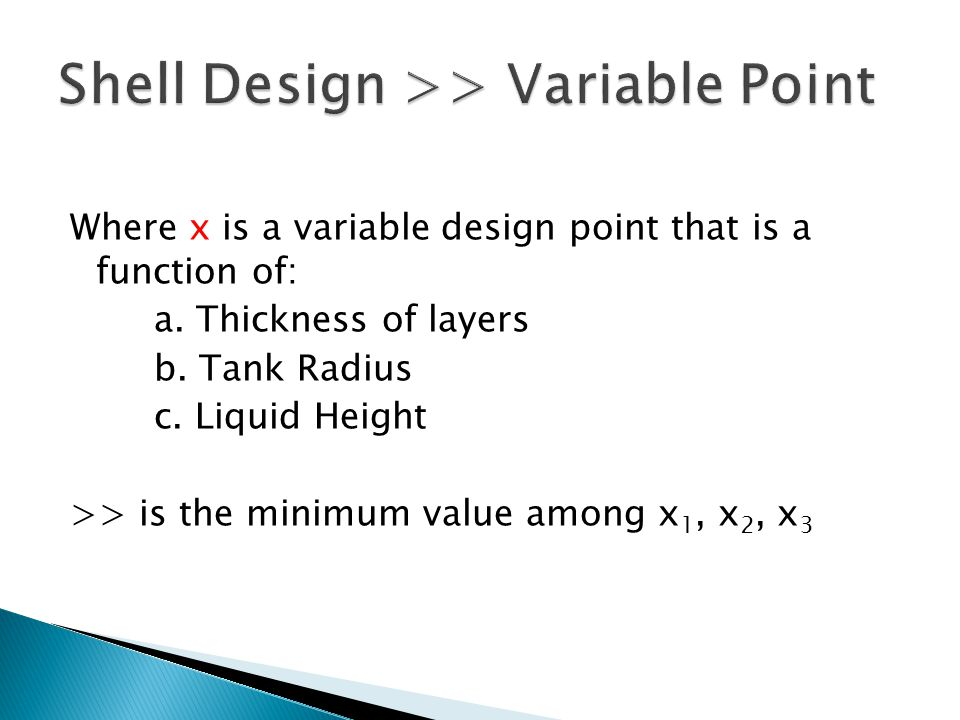 Where x is a variable design point that is a function of: a.