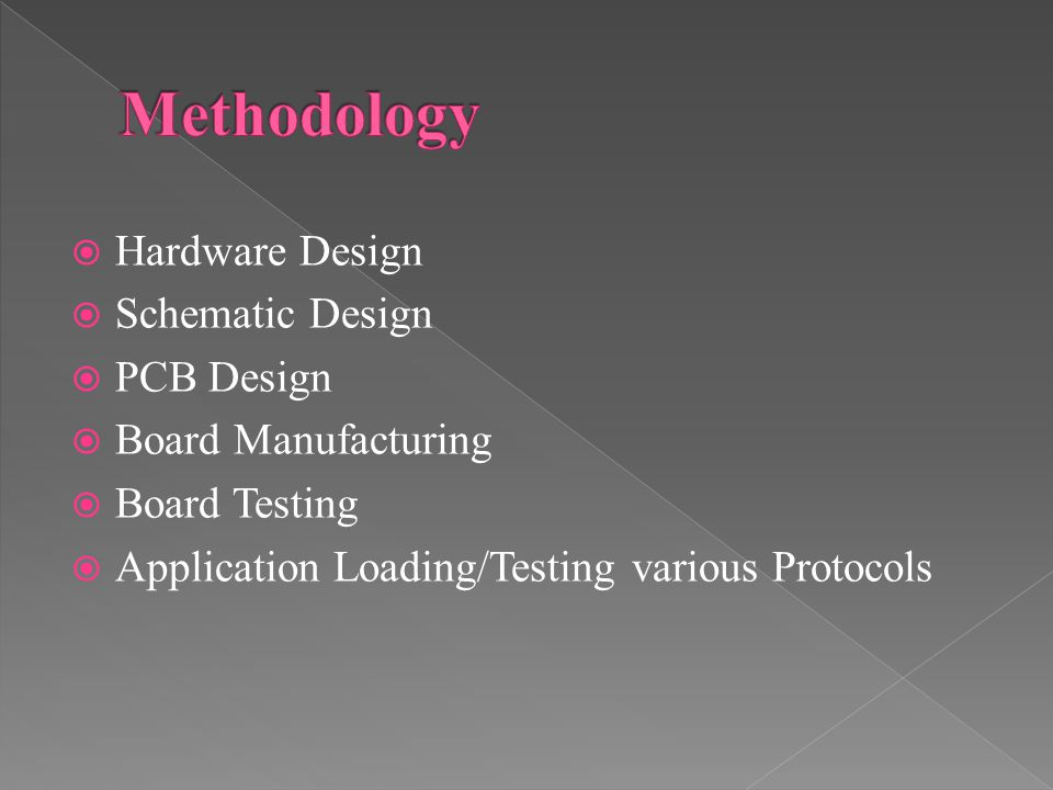  Hardware Design  Schematic Design  PCB Design  Board Manufacturing  Board Testing  Application Loading/Testing various Protocols