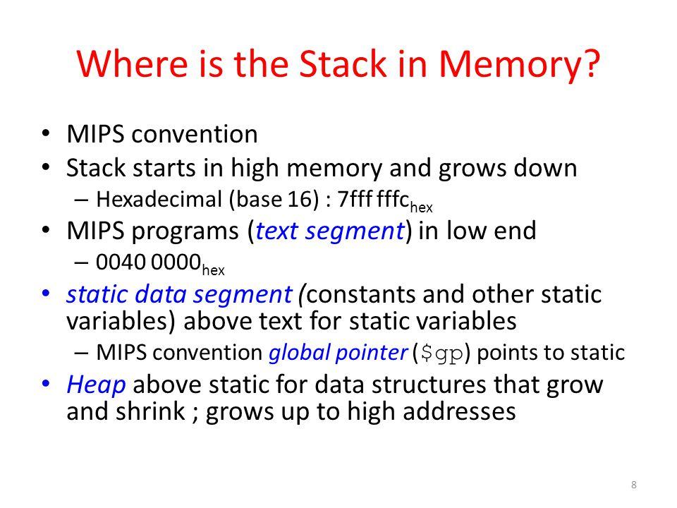 MIPS Memory Allocation 9