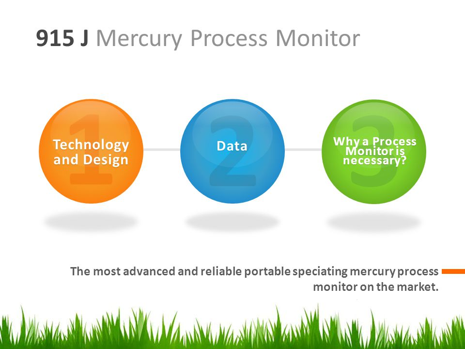 915 J Mercury Process Monitor The most advanced and reliable portable speciating mercury process monitor on the market.