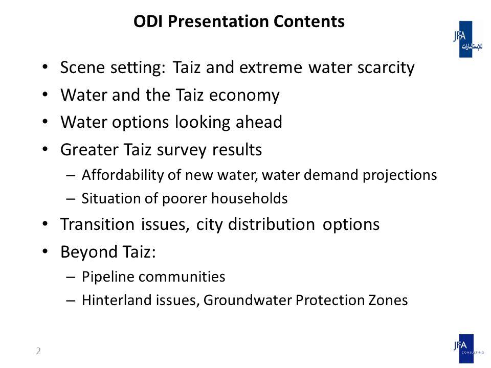 Water and the Taiz economy 13