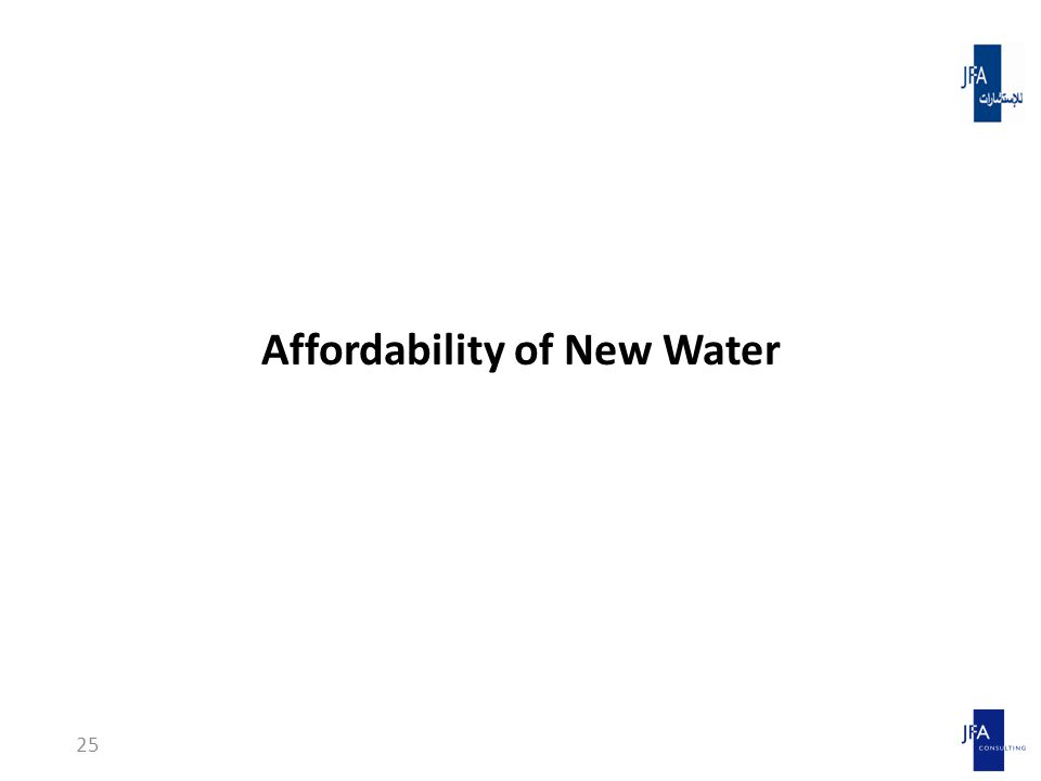 Affordability of New Water 25