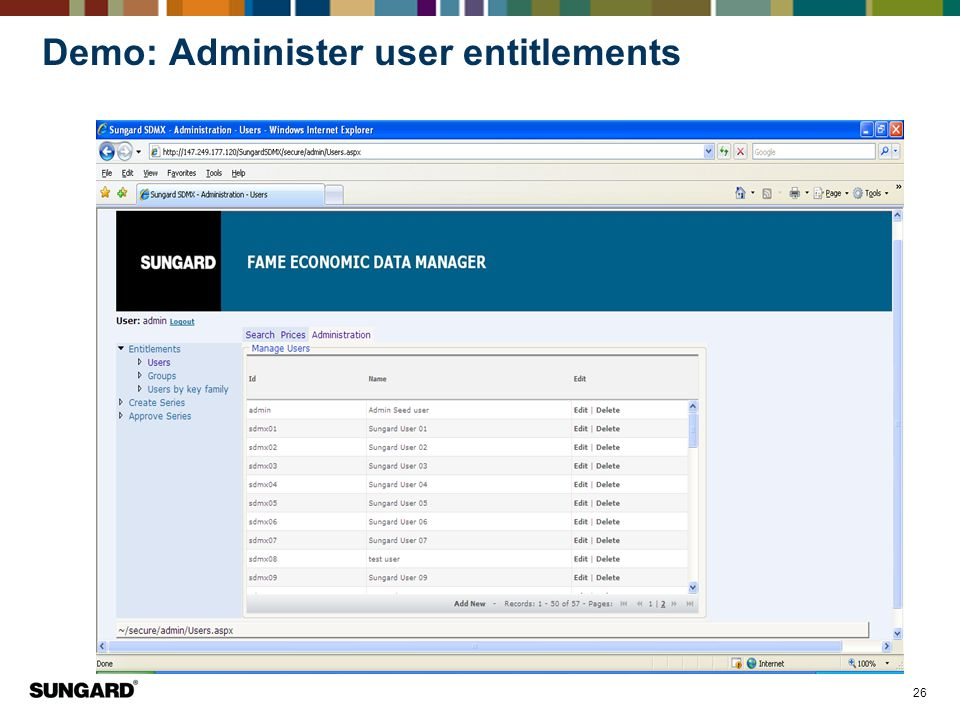 26 Demo: Administer user entitlements