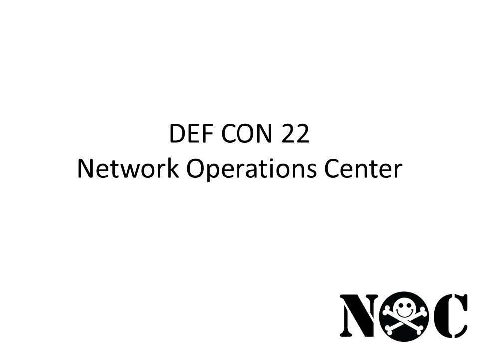 DEF CON 22 Network Operations Center