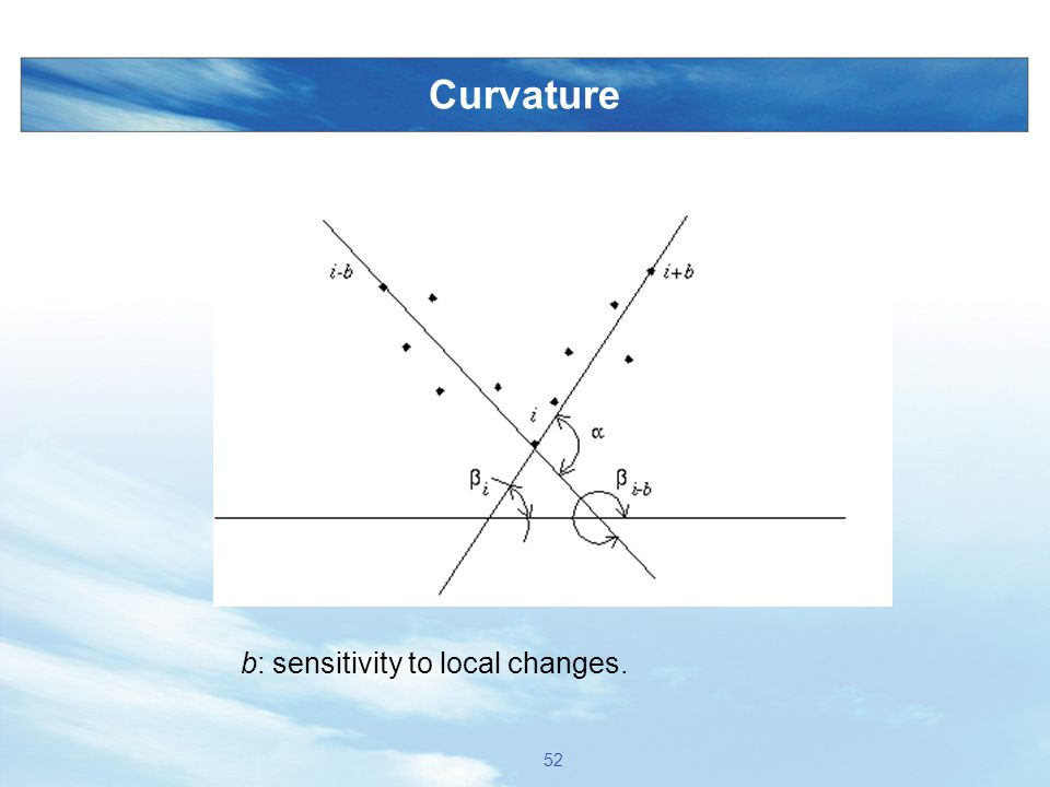Curvature 52 b: sensitivity to local changes.
