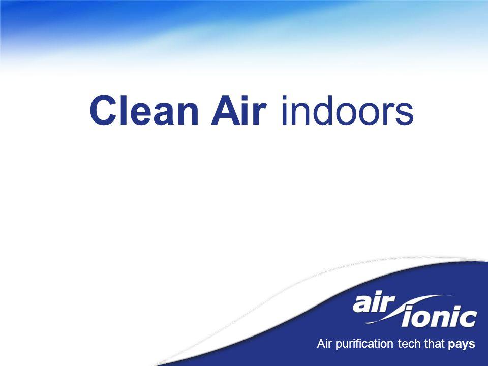 Air purification tech that pays Clean Air indoors