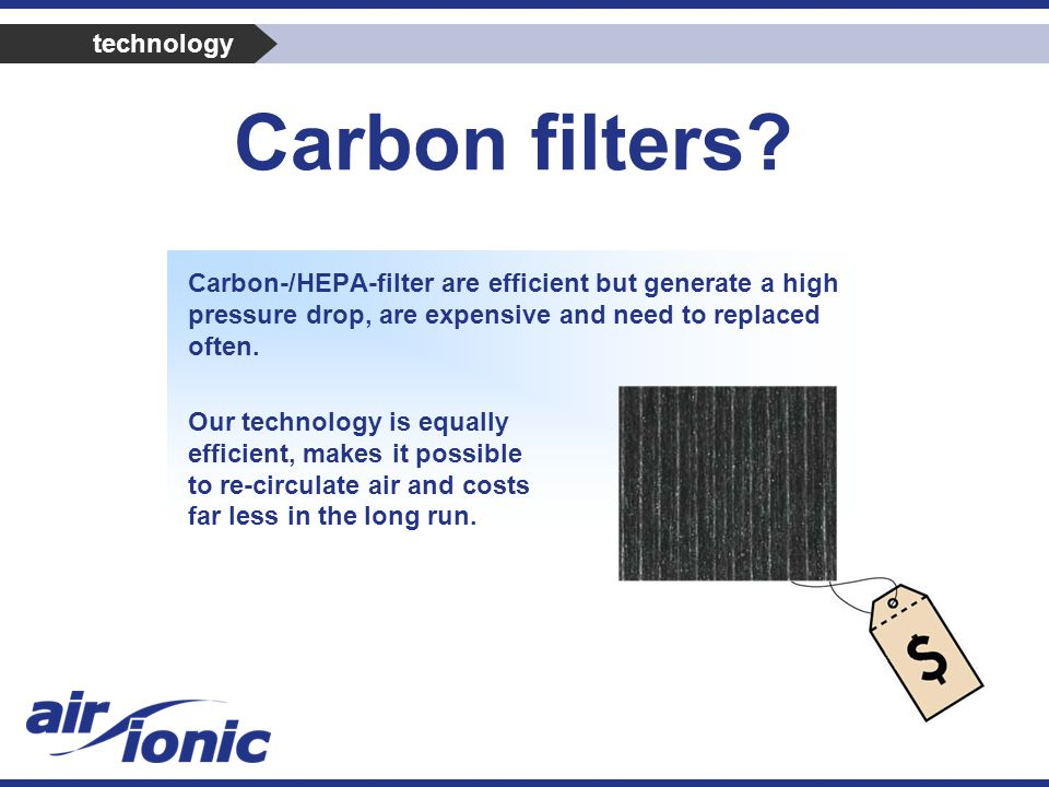 Carbon filters.