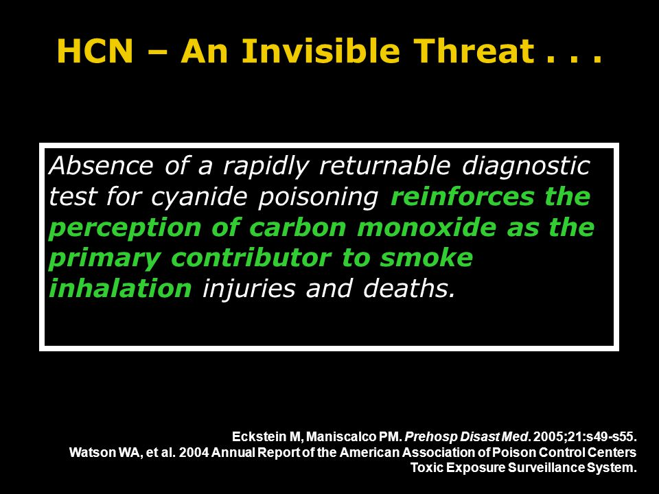 HCN – An Invisible Threat...