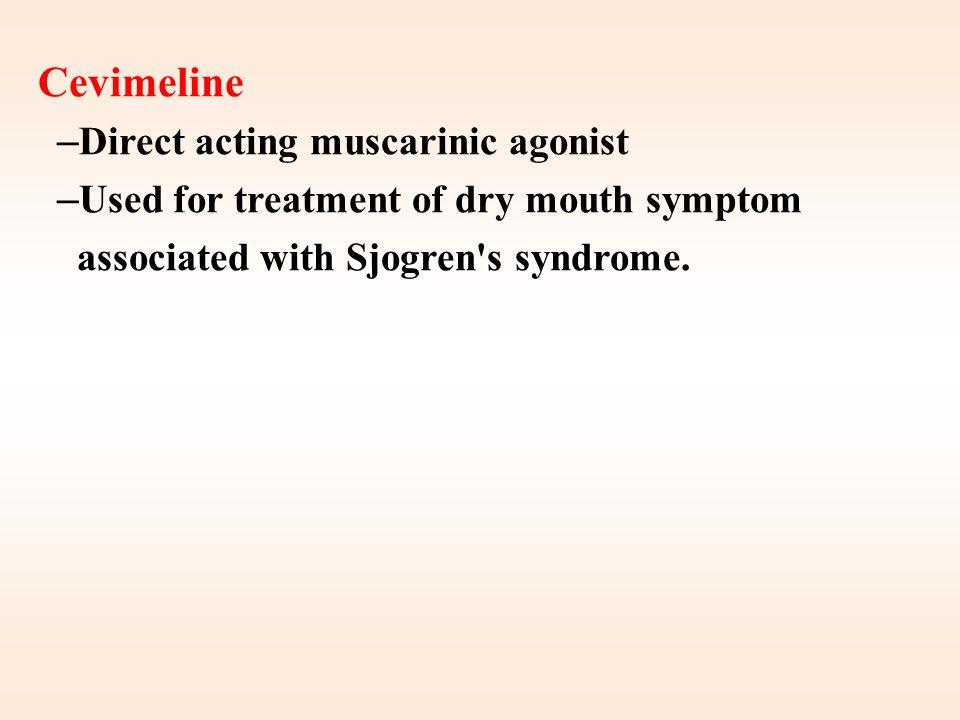 Pilocarpine Bethanechol CarbacholACh Muscarinic Nicotinic Muscarinic Nicotinic Receptors +++ Muscarinic More on eye, secretion GIT, Urinary bladder Ey