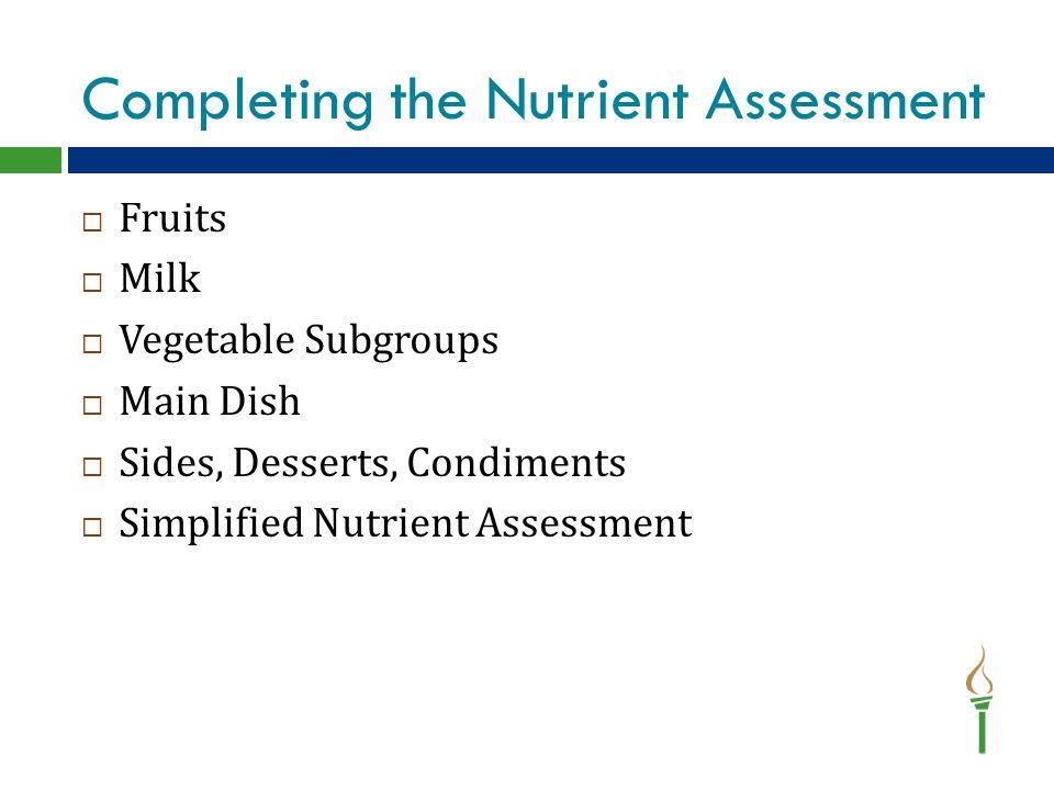 SNA- Fruit Section Select the option best representing how each component is offered throughout the week.