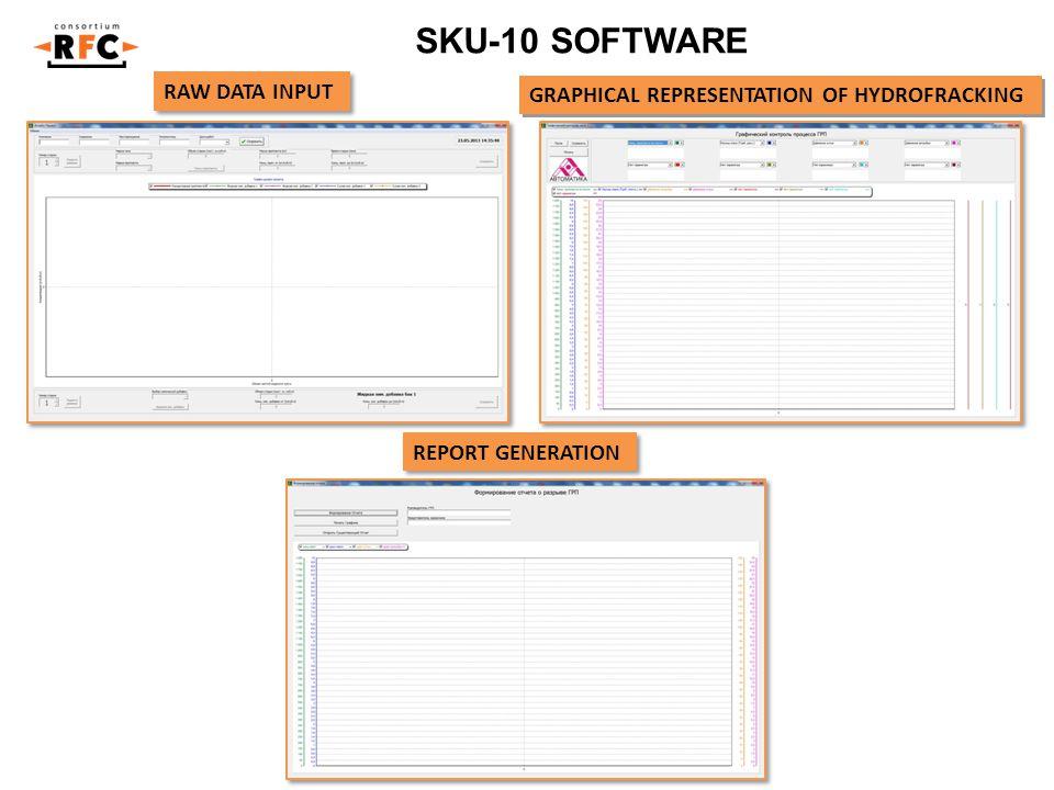 SKU-10 SOFTWARE RAW DATA INPUT GRAPHICAL REPRESENTATION OF HYDROFRACKING REPORT GENERATION