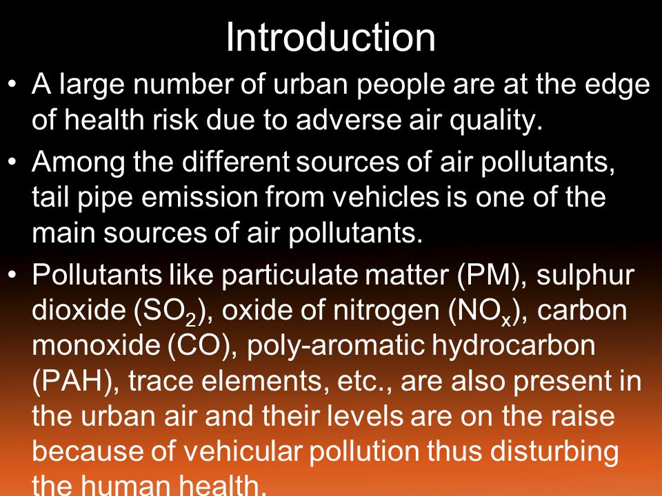 Introduction Association between mortality rate and particulate air pollution has long been studied, but many studies may be limited by a lack of control for confounding factors.