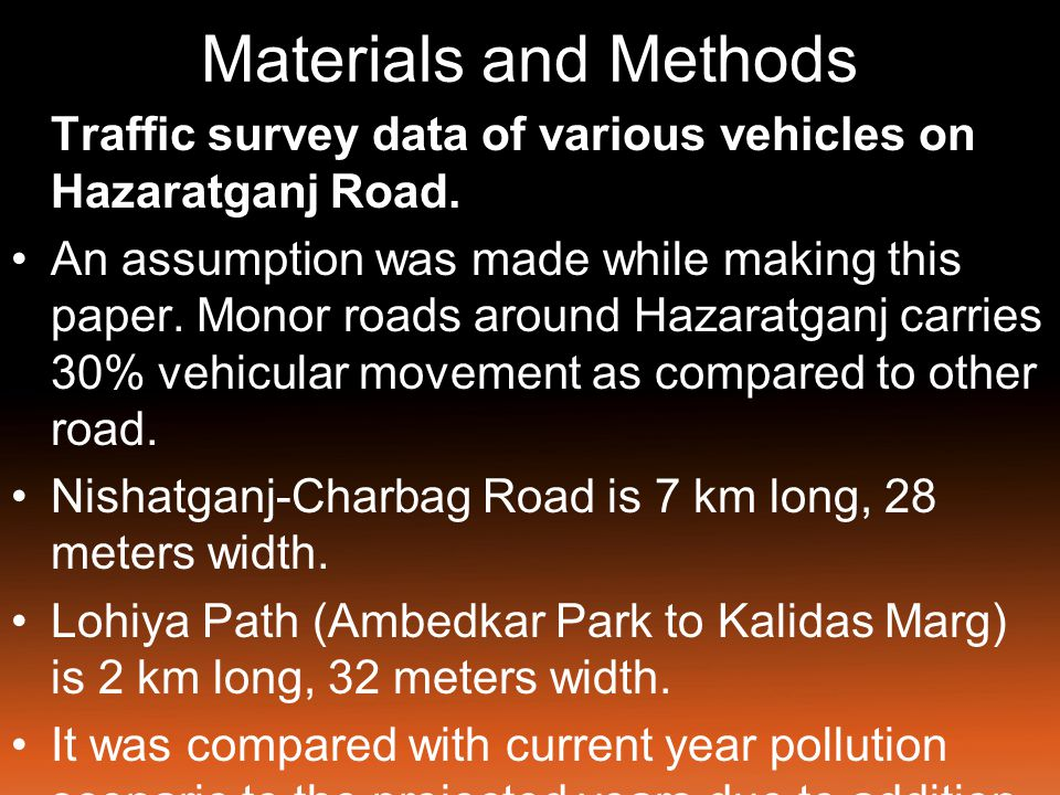 Materials and Methods The average daily patterns of flow of 2- wheelers (2W), 3-wheelers (3W), 4-wheelers (4W), LCVs and HVs throughout the day are shown in Fig.