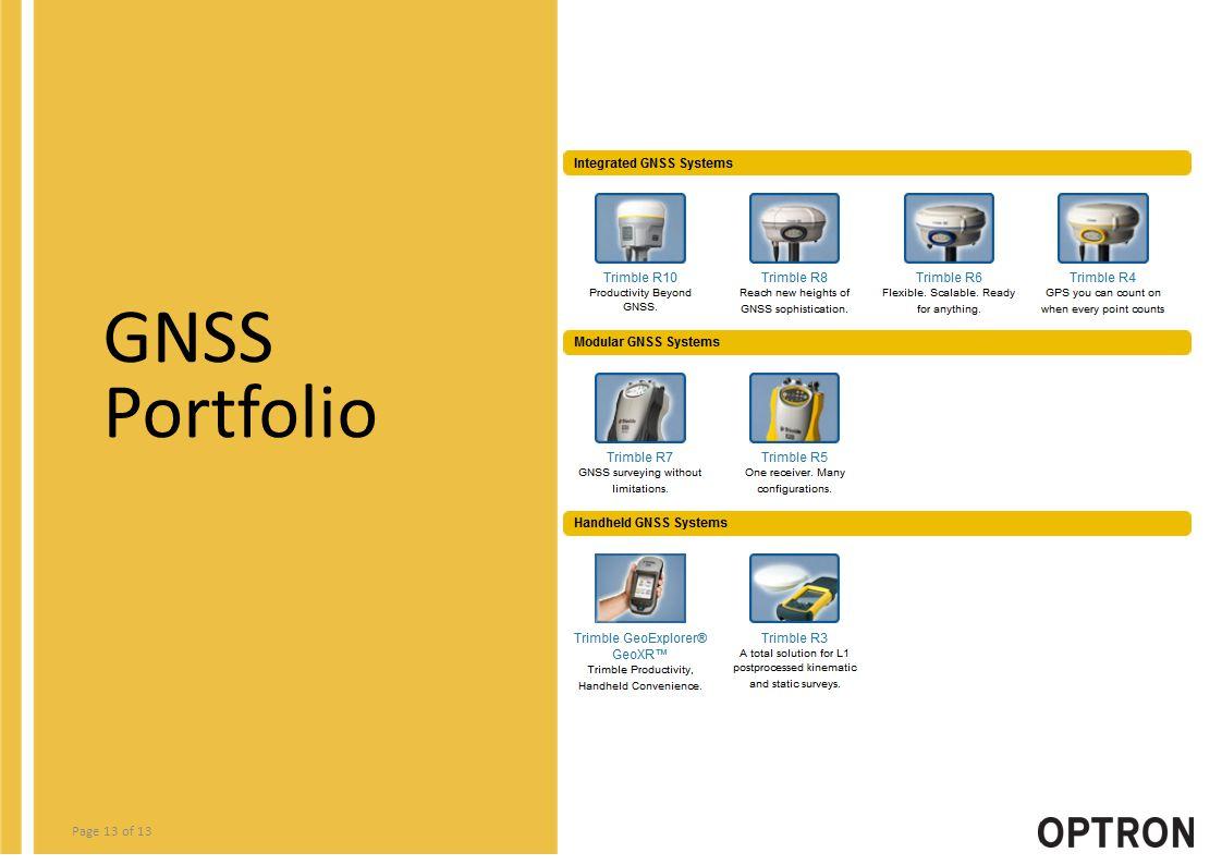 Page 13 of 13 GNSS Portfolio