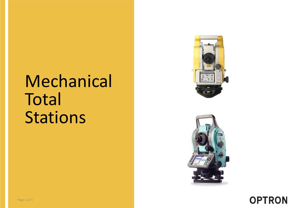 Page 5 of 5 Mechanical Total Stations