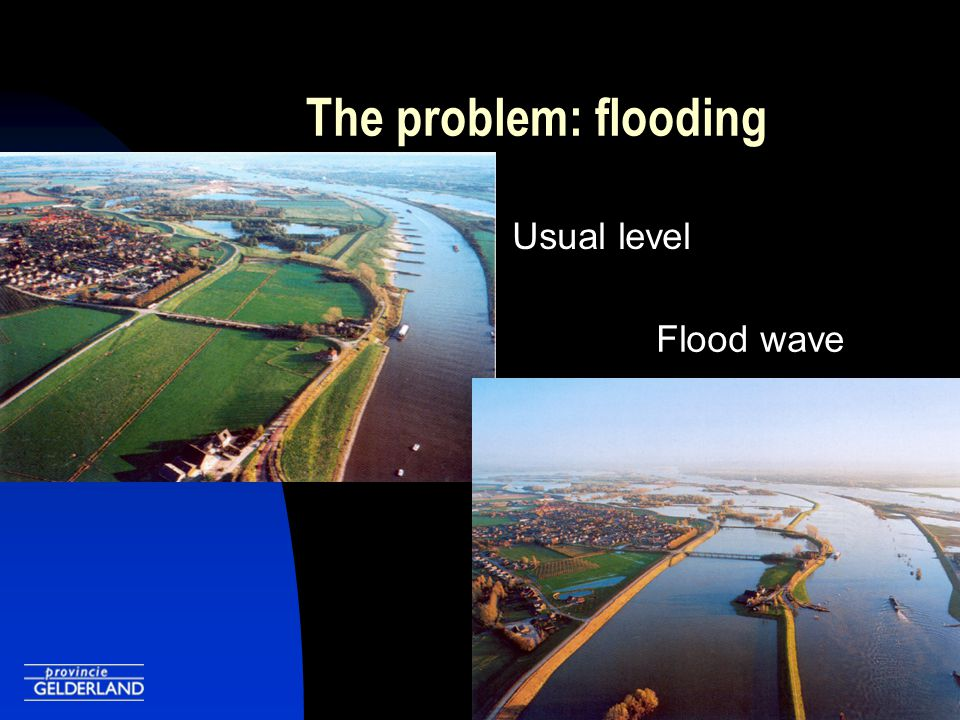 The problem: flooding Evacuation Dikeburst?