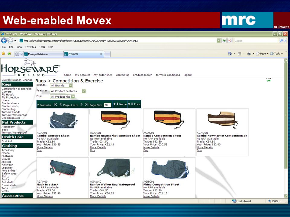 Web-enabled Movex