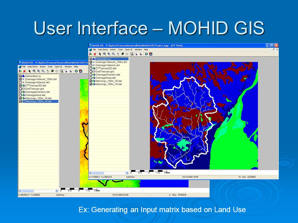 User Interface – MOHID GIS Ex: Generating an Input matrix based on Land Use