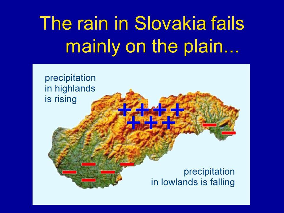 The rain in Slovakia fails mainly on the plain...