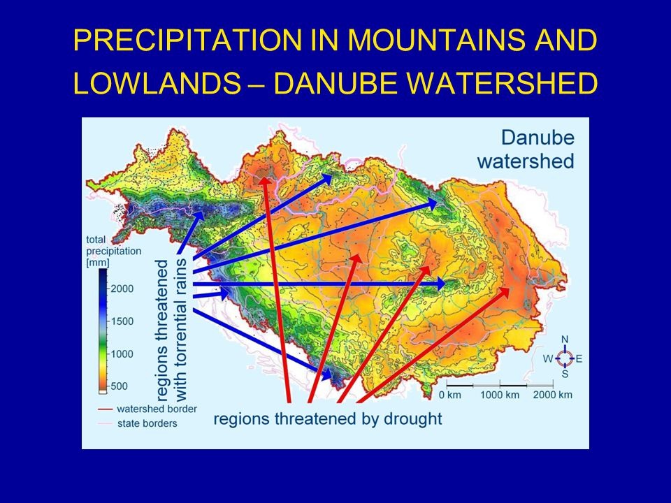 PRECIPITATION IN MOUNTAINS AND LOWLANDS – DANUBE WATERSHED