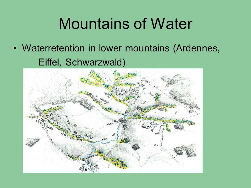 Mountains of Water Waterretention in lower mountains (Ardennes, Eiffel, Schwarzwald)
