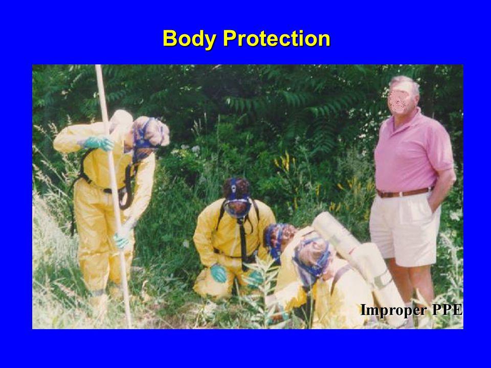 Improper PPE