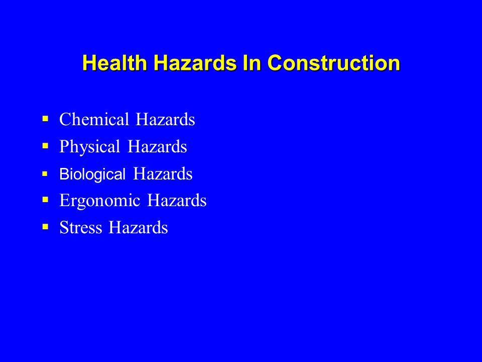 What are the Major Causes of Body Injuries/Illnesses.