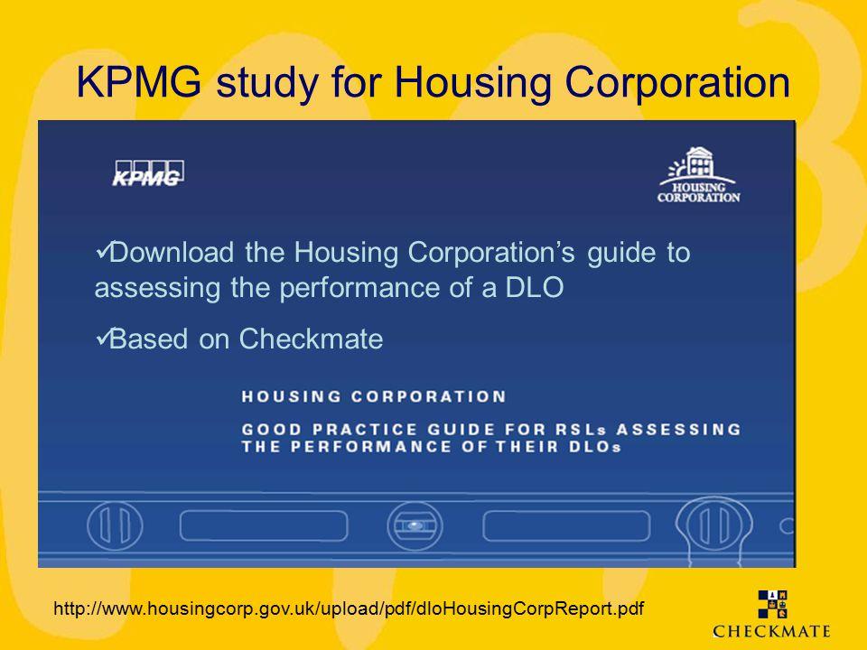 KPMG study for Housing Corporation http://www.housingcorp.gov.uk/upload/pdf/dloHousingCorpReport.pdf Download the Housing Corporation's guide to asses