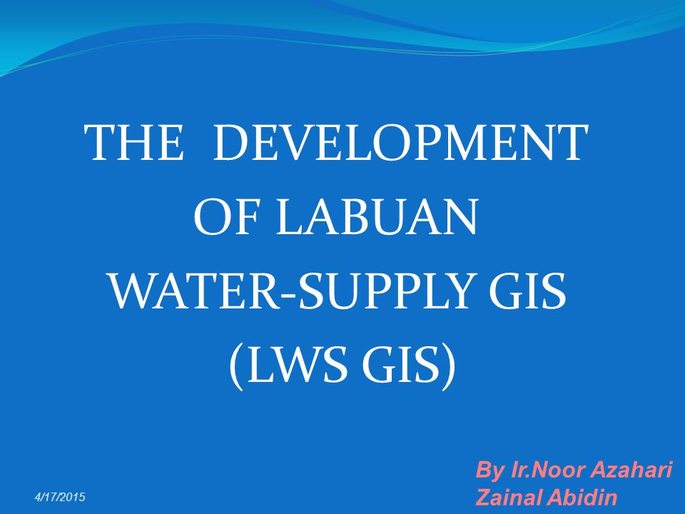 Non Revenue Water - Existing application Water Network & Operation Management Sys.