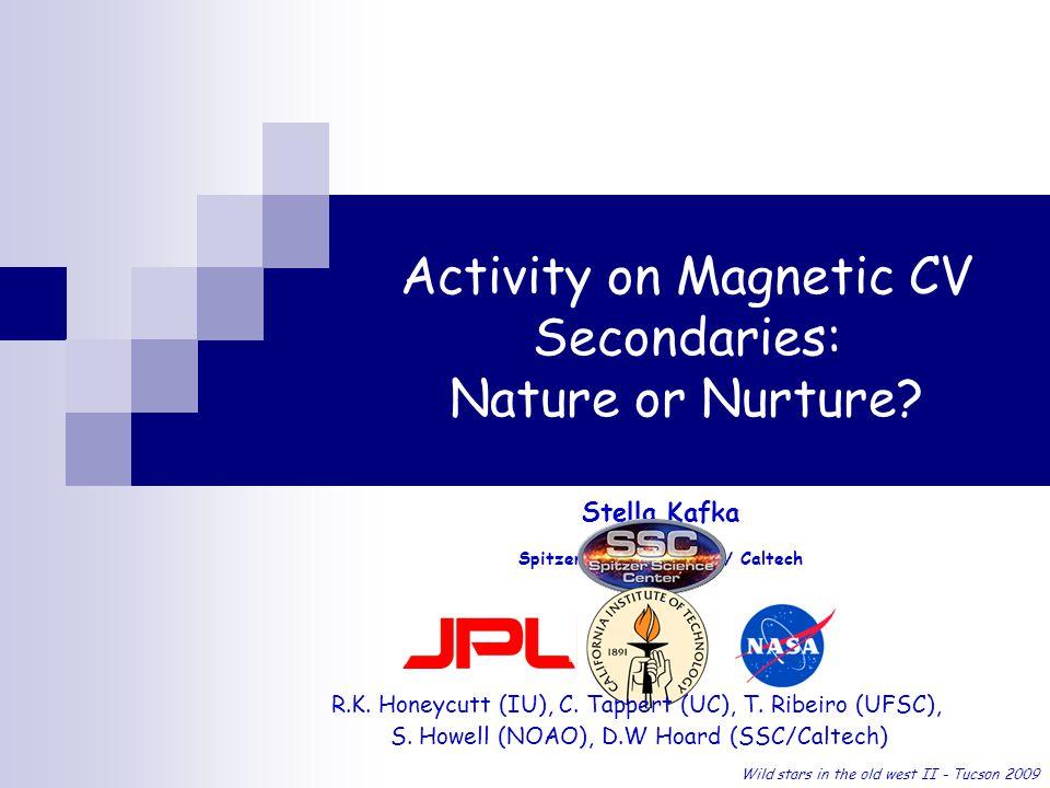 Activity on Magnetic CV Secondaries: Nature or Nurture.