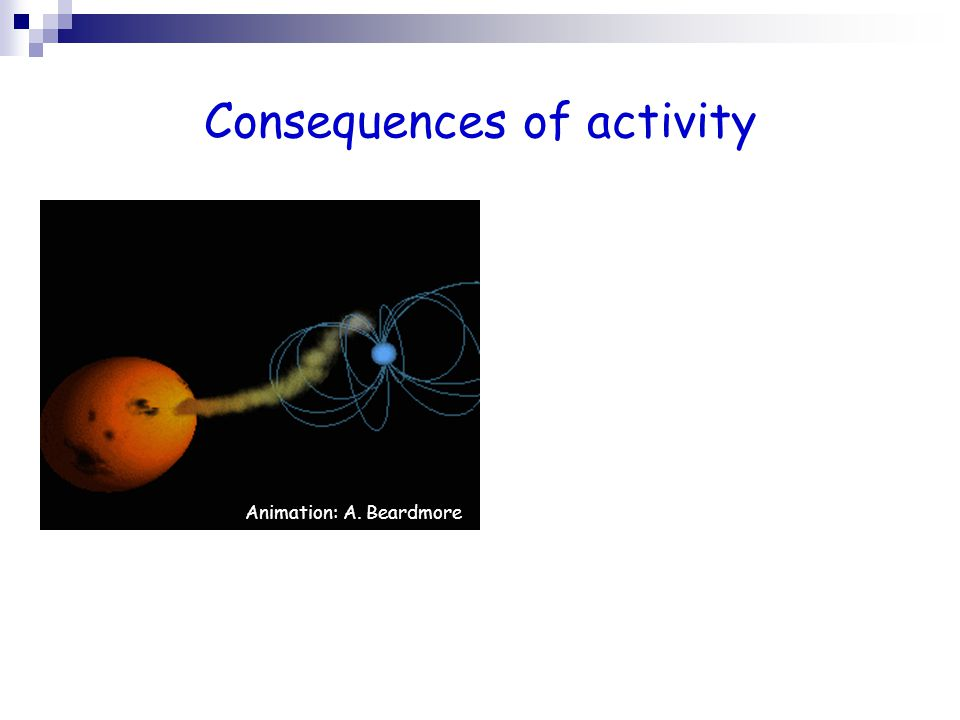 Consequences of activity Animation: A.