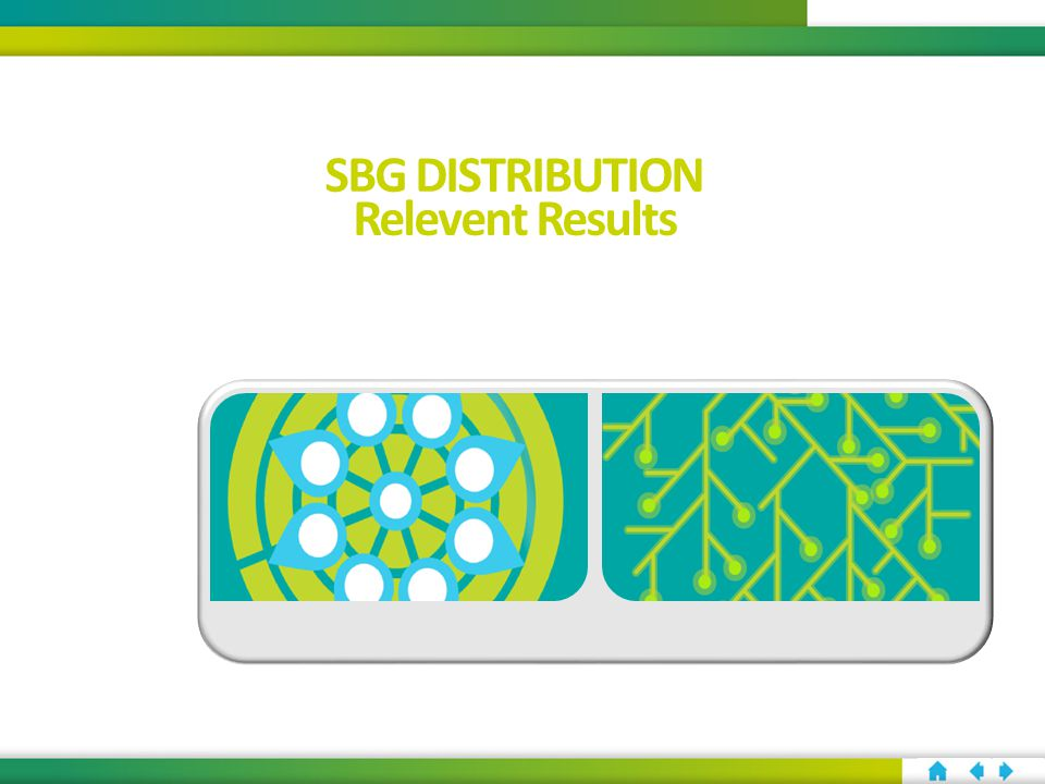SBG DISTRIBUTION Relevent Results